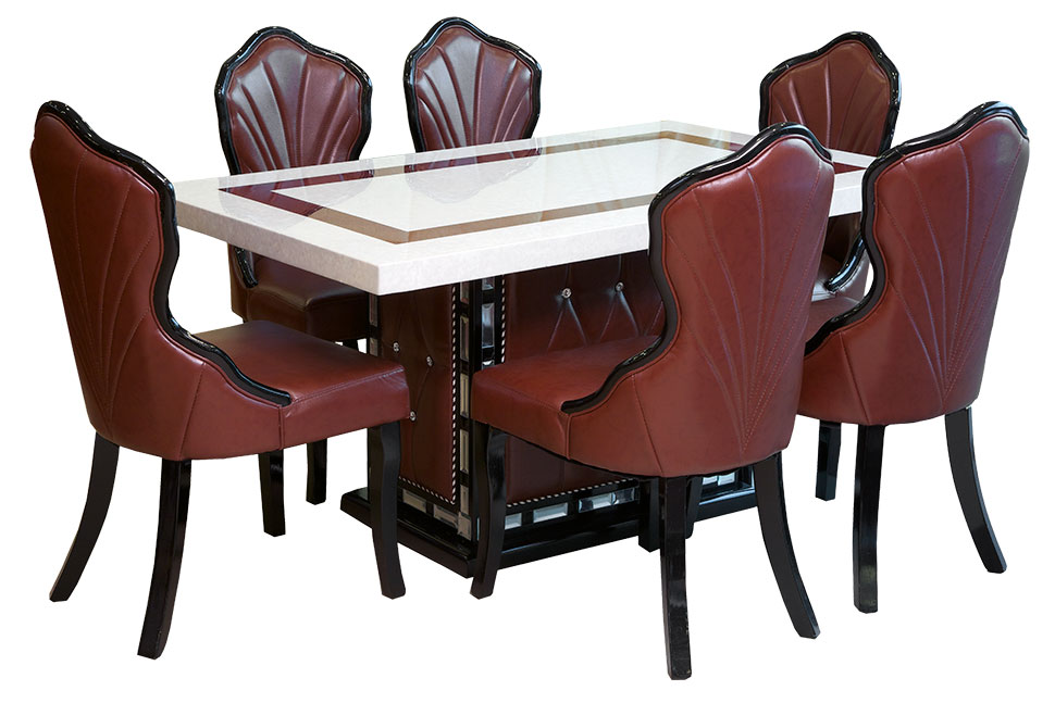 6 chairs dining table set